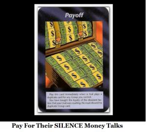 pay for their silence