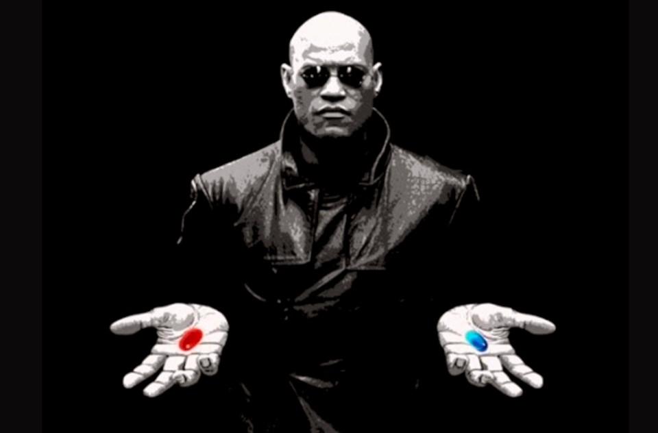 red pill blue pill over 16