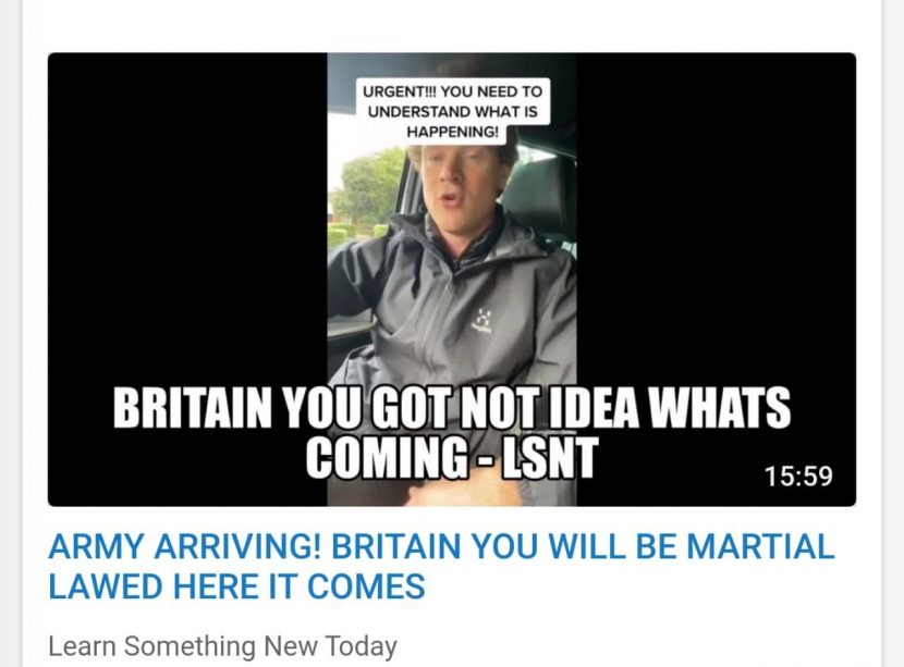 Army arriving uk you will be martial lawed